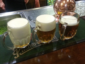 Pilsner Urquell Different Pours including Milko