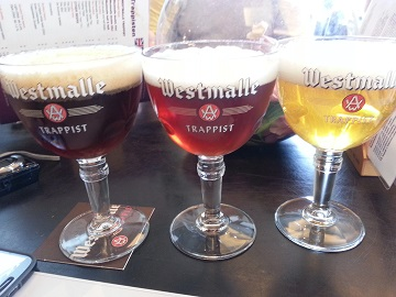 Westmalle Cafe Beers Dubbel Tripel Half and Half